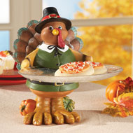 Hand Painted Thanksgiving Turkey Serving Tray - 34862