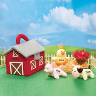 Farm Carrier Plush Barn and Animals Kids Toys - 34949