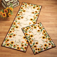 Autumn-inspired Sunflower Harvest Rug - 34964