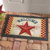 Red Star Country-style Welcome Mat - 34966