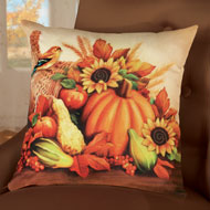 Fall Harvest & Sunflower Pillow Cover