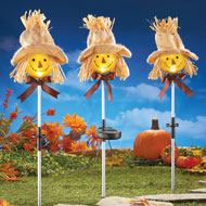 Scarecrow Outdoor Solar Lights - Set of 3 - 34978