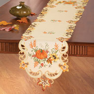 Embroidered Pumpkin Table Linens - 35219