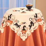 Cats and Pumpkins Halloween Table Linens