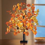 Lighted Tabletop Fall Maple Tree - 35235