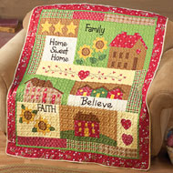 Country Home Quilted Throw - 35262