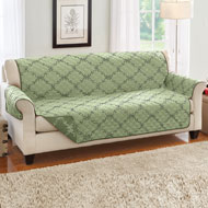 Reversible Lattice Quilted Furniture Cover