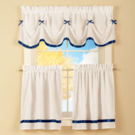 Dainty Bow Cafe Curtain Set - 35464