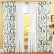Whispering Park Tree Pattern Sheer Panel - 35468