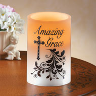 Amazing Grace Christian LED Candle - 35477