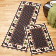 Woodland Brown Bear Accent Rug - 35497