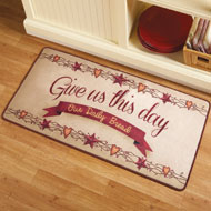 Country-style Give Us This Day Christian Rug - 35498