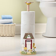 Country Outhouse Toilet Paper Holder - 35510