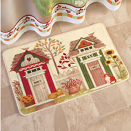 Country His and Hers Outhouse Bath Rug