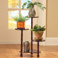 Wooden Tiered Plant Stand - 35556