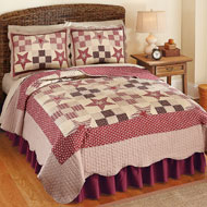 Reversible Country Star Patchwork Quilt - 35563