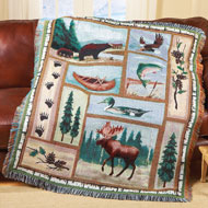 Woodland Tapestry Throw Blanket - 35567