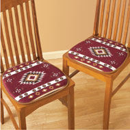 Padded Southwest Chair Cushion Pads - Set of 2 - 35569