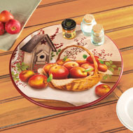 Primitive Country Apple Lazy Susan Turntable - 35573