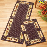 Elegant Horse Trot Lattice Accent Rug