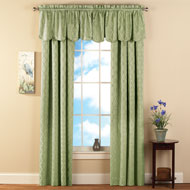 Insulated Room Darkening Lattice Curtain Panels - 35631