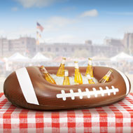 Inflatable Football-Shaped Cooler - 35673
