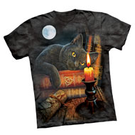 Full Moon Cat Halloween T-shirt - 35683