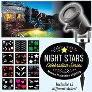 Night Stars Celebration Series Light Projector - 35700
