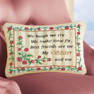 My Sister and Me Floral Tapestry Accent Pillow - 35824
