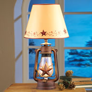 Rustic Country Star Lantern Table Lamp - 35836
