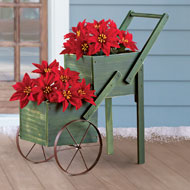 Double Tier Wood Planter Wagon - 35879