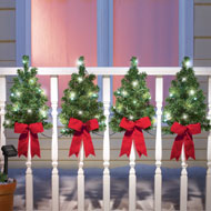 Solar Christmas Trees Wall & Fence Decor