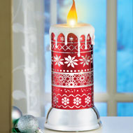 LED Nordic Snowflake Candle