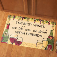The Best Wines with Friends Accent Mat - 35962