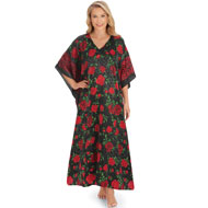 Rose Print Caftan Lounger - 35994