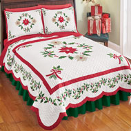 Christmas Evergeen Garland Quilt
