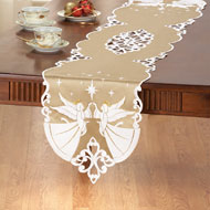 Embroidered Christmas Angel Table Linens