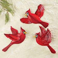 Flying Cardinal Wall Decor - Set of 3 - 36463