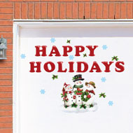 Happy Holiday Winter Snowman Garage Magnets