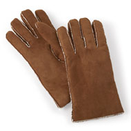 Ladies Faux Suede and Sherpa Gloves