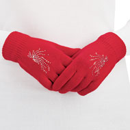Embellished Knit Gloves - Set of 3 - 36520