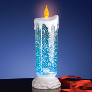 Color Changing Snow Globe Candle