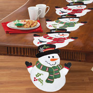 Holiday Winter Snowman Table Linens - 36585