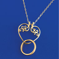 Ring Holder Pendant Necklace - 36603