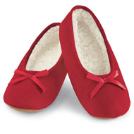 Faux Suede Cozy Ballerina Slippers