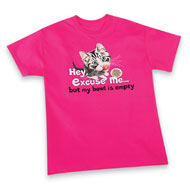My Bowl is Empty Cat Short-sleeved T-shirt - 36760