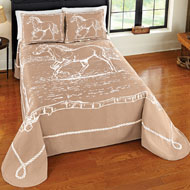 Western Galloping Horse Bedspread - 36801