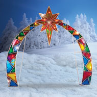 Lighted Outdoor Arch with Star of Bethlehem