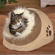 Igloo Shaped Faux Fur Pet Bed - 36873