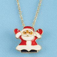Santa Claus Pendant Necklace and Giftbox - 36915